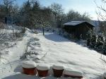 Schneelandschaft meiner Heimat, Garten-Winterschlaf 17. Dezember 2010 (Foto / Copyright (C) Astrid Johann)